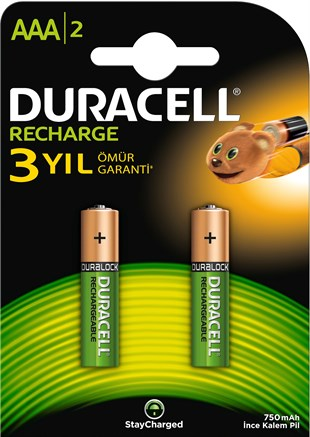 DURACELL 750 MAH. İNCE PİL